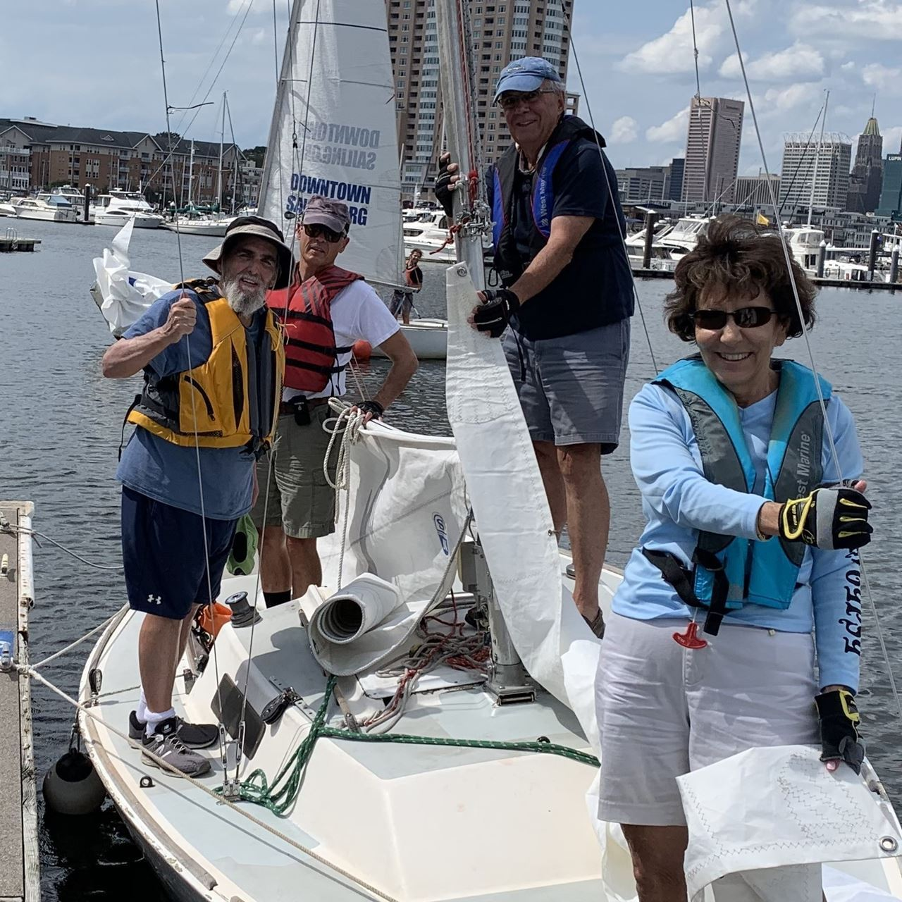 Members enjoy an afternoon sail
