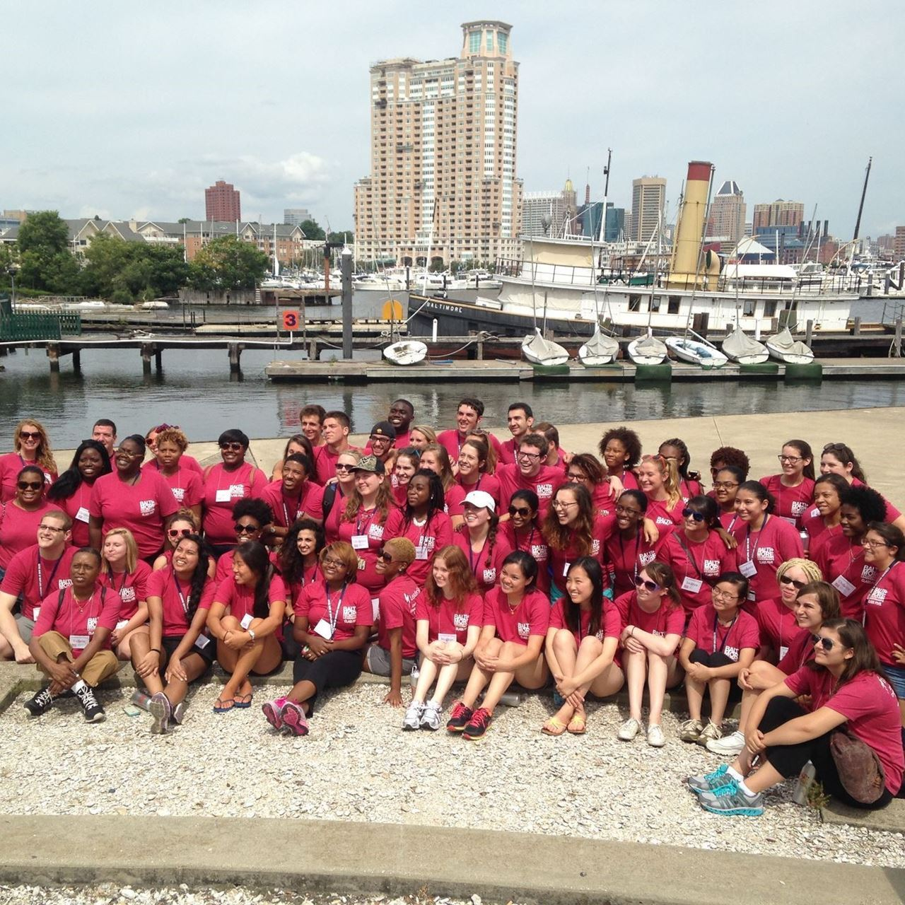 Baltimore Collegetown participates in a teambuilding event